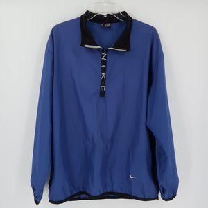Nike 1/4 zip pull over Jacket in Blue Size Large